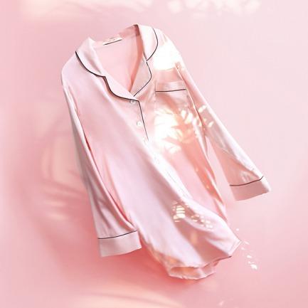 粉色衬衫裙 | 真丝 最好的睡眠伴侣