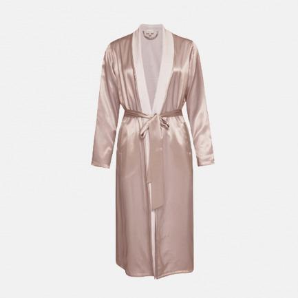 Silk Terry睡袍-甜藕粉 | 触感丝滑 双面可穿