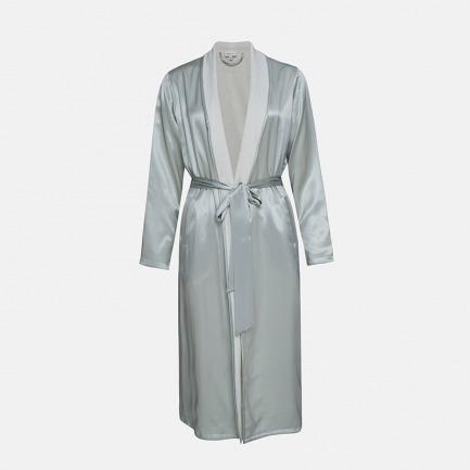 Silk Terry睡袍-天水蓝 | 触感丝滑 双面可穿