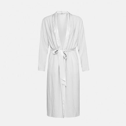 Silk Terry睡袍-净荼白 | 触感丝滑 双面可穿