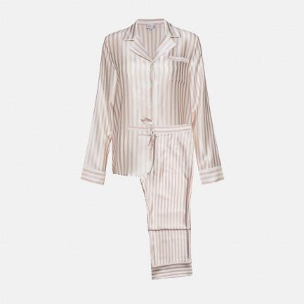 经典蚕丝系列   条纹睡衣套装