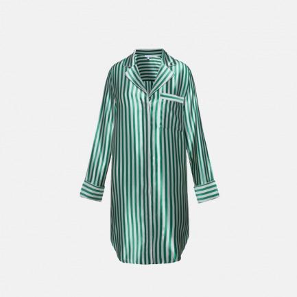 经典蚕丝系列   条纹长衬衫