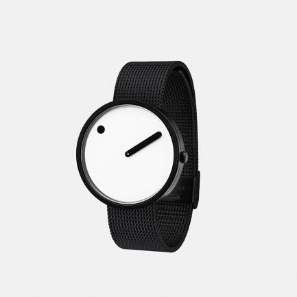 丹麦极简腕表-熊猫色 | 米兰刚带 创意点线结合设计