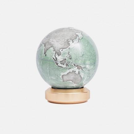 金属标准圆底地球仪英文版【灰湖绿】