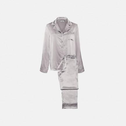 Classic睡衣套装-沙驼色 | 顶级桑蚕丝 手工制作