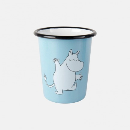 姆明陪你喝水 搪瓷直身杯 | 芬兰进口珐琅材质 共两款