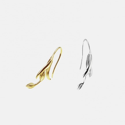 小号花枝耳环 | 原创设计 925银镀14k黄金/白金【两色可选】