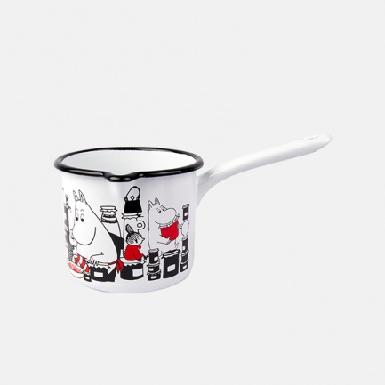 姆明搪瓷珐琅奶锅1.3L | 让可爱善良的姆明小精灵温暖你的心灵【两款可选】