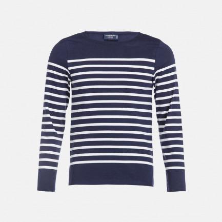 圆领半条纹长袖T恤-男女同款 |  条纹衫鼻祖 众多明星同款