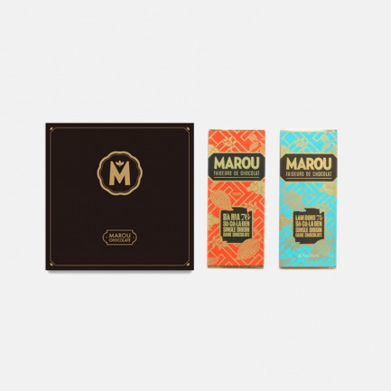 Marou黑箱巧克力礼盒 | 越南独特风味手工黑巧【一盒两片随机发】