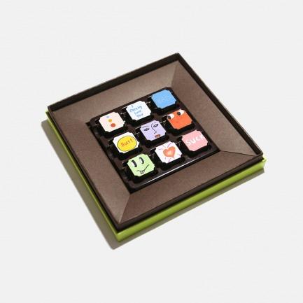 飞机的坏品位定制款松露巧克力组合 | 九种充满想象力的复配生巧 九种口味 九个你
