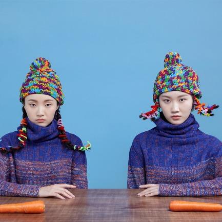 小芳17# 冰条棉线帽子 | 纯手工编织 柔软亲肤 不掉色