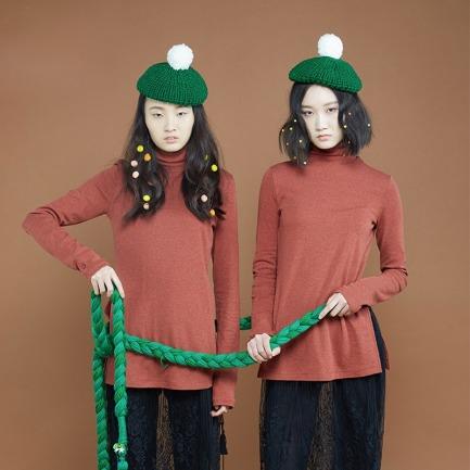 小芳7#宝宝棉线帽子 | 纯手工编织 柔软亲肤 不掉色【两色可选】