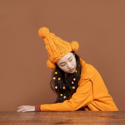 小芳8# 特粗冰岛棉线帽子 | 纯手工编织 柔软亲肤 不掉色