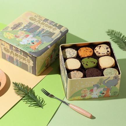 森林九宫格曲奇礼盒 | 舒软香脆 入口酥化