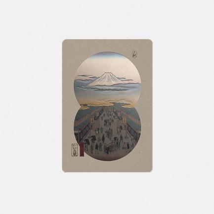 东京浮世绘四季手账之秋-富士山的颜色