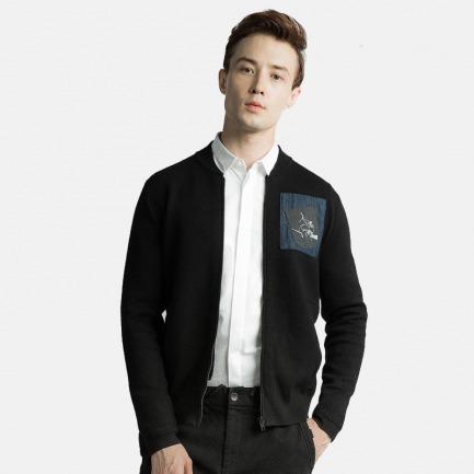口袋装饰拉链休闲毛衣 | 纽约时装周设计师品牌