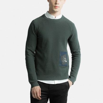 口袋装饰休闲毛衣 | 纽约时装周设计师品牌