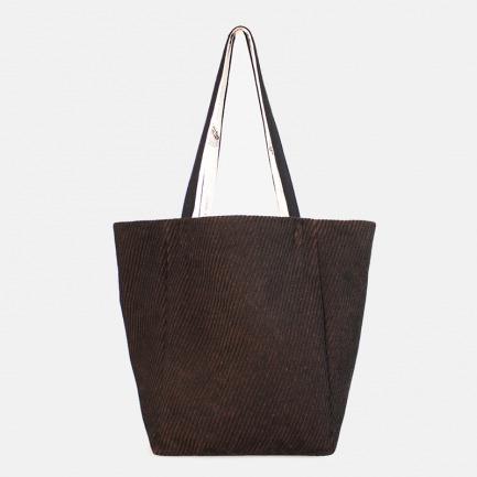 棕色特厚毛呢大桶包单肩包