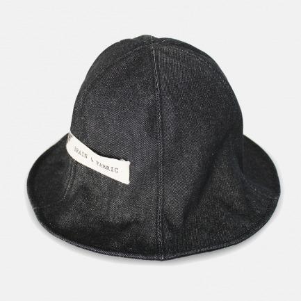 经典黑色生牛仔盆帽渔夫帽