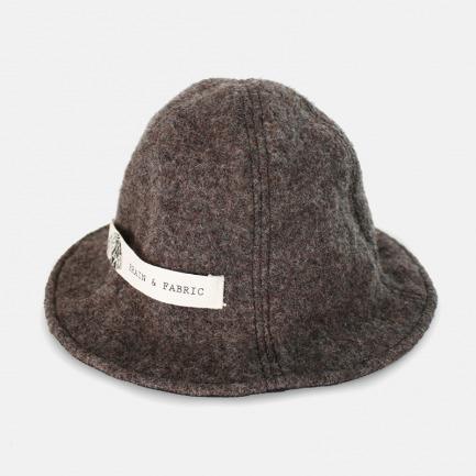 经典咖色蓬松毛呢盆帽渔夫帽