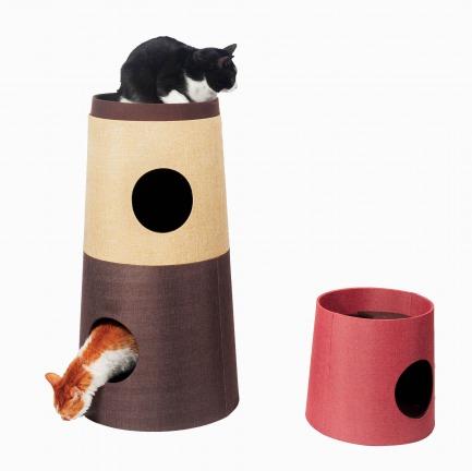 日系文艺风拼色猫塔 | 充满乐趣的宠物乐园 可拆分