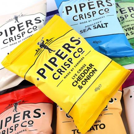 风笛手薯片套装40g*8包 | 英国金字塔顶端美味薯片【多种口味】