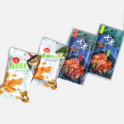 台湾味肉纸片 薄猪肉铺 35g*4包 | 地道台湾肉纸传统工艺制作