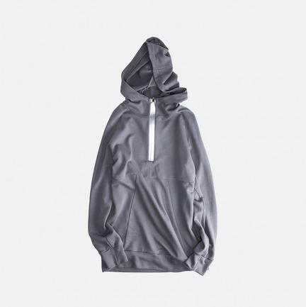 银色半拉链连帽卫衣 | 独立设计师品牌 原创设计
