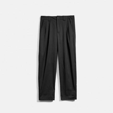 男式打褶直筒休闲长裤 | 独立设计师品牌 原创设计