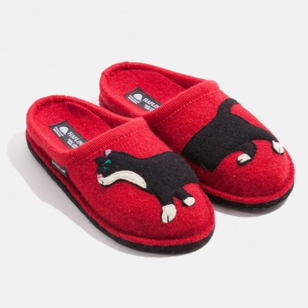 德国100%羊毛毡家居鞋拖鞋 | 轻便保暖 光脚也舒适 可机洗-黑白猫
