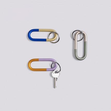 金属钥匙扣   北欧简约撞色设计 轻松旋开 方便携带