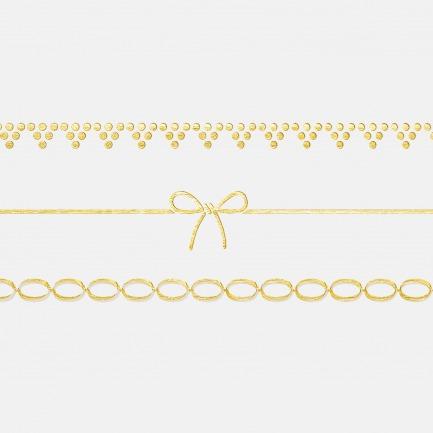 日本创意首饰纹身贴【多款】 | 用轻薄的铝箔贴纸取代累赘昂贵首饰