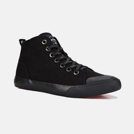 高帮帆布鞋-黑色 | 干爽透气 耐磨防滑 众多明星网红推荐
