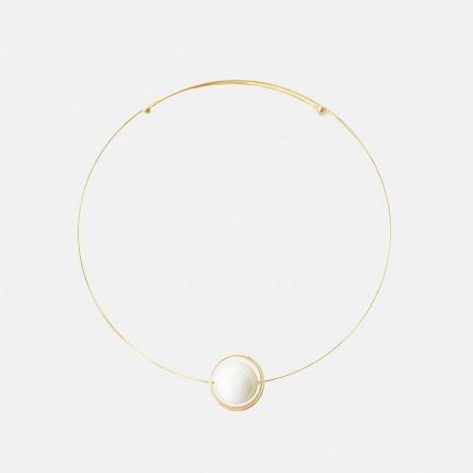 宇宙星系守护项圈项链 两款   天然宝石 18K镀金 传达守护与爱