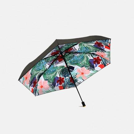 三折黑胶 晴雨两用伞   夏威夷风情印花  UPF50+