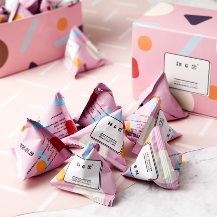 粉红云朵黑巧克力棉花糖 | 比利时黑巧克力 包裹樱桃夹心棉花糖