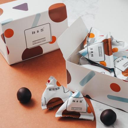 云朵黑巧克力棉花糖 | 比利时黑巧包裹甜软棉花糖