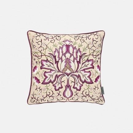 紫繁篓绣花靠垫 | 亚麻材质 耐磨抗皱
