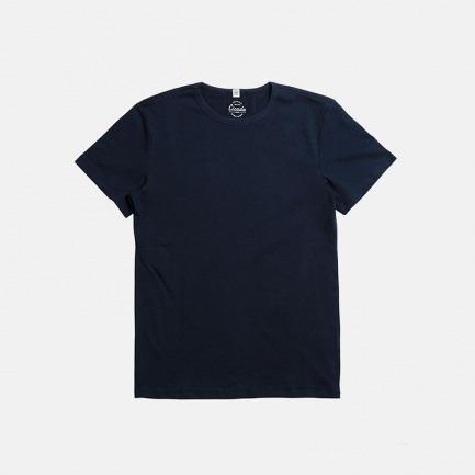 全棉复古运动蓝T恤 | 美式经典款 舒适修身 透气耐洗