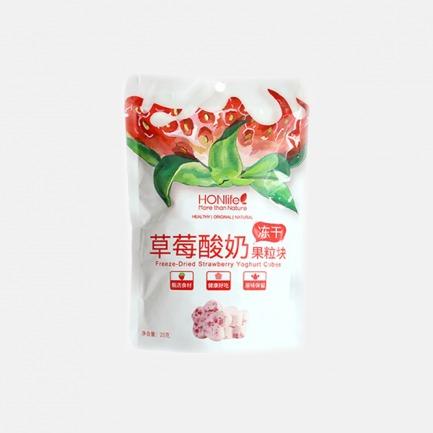 草莓 蓝莓冻干酸奶块x3袋 | 每一朵花浓缩5杯牛奶4斤水果的精华