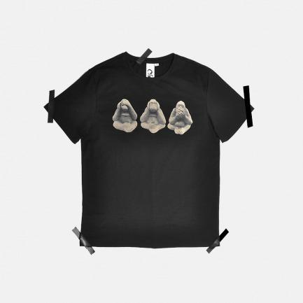 3 Monkeys T恤   原创设计师品牌 舒适透气 柔软不变形