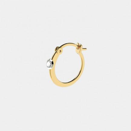 18k金 贝利珠钻石耳环单只 | 明星同款单品 轻奢时尚