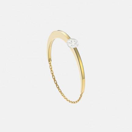 18k金 贝利珠钻石软链戒指   明星同款单品 轻奢时尚 设计精致