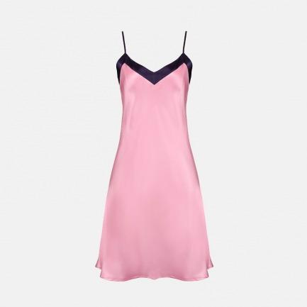 意式清新甜美撞色吊带裙 | 真丝触感 奢华精致 两色可选