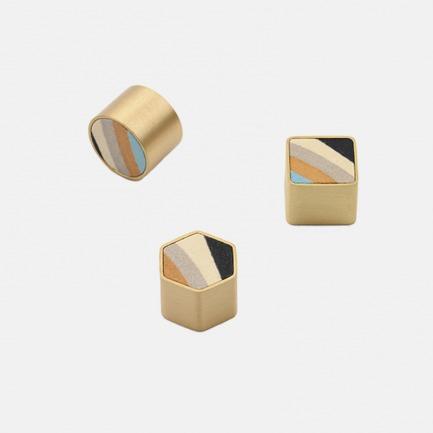 黄铜花砖磁吸  | 手工制作 金石相间