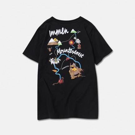 喜马拉雅探险图T恤 两色 | 前胸刺绣 后背个性印花