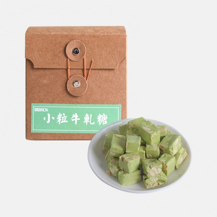 台湾抹茶牛轧糖   甜而不腻 抹茶香气奶味足