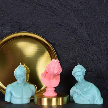 希腊美男子雕塑香薰蜡烛 | 美的像艺术品