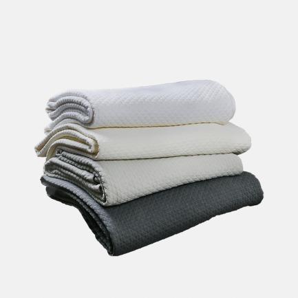 菱格纹纯棉搭毯 两色可选 | 柔软纯棉 给你超舒适手感